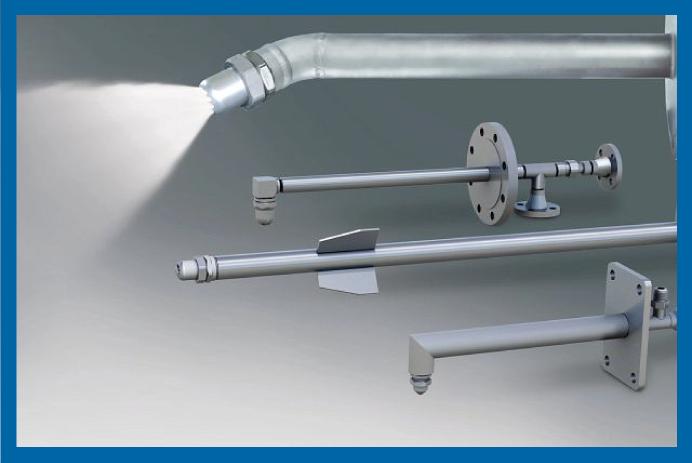 Unidade de pressurização, painel de controle e lanças Flomax® da Spraying Systems